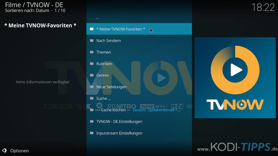 TV NOW Kodi Addon installieren - Schritt 7