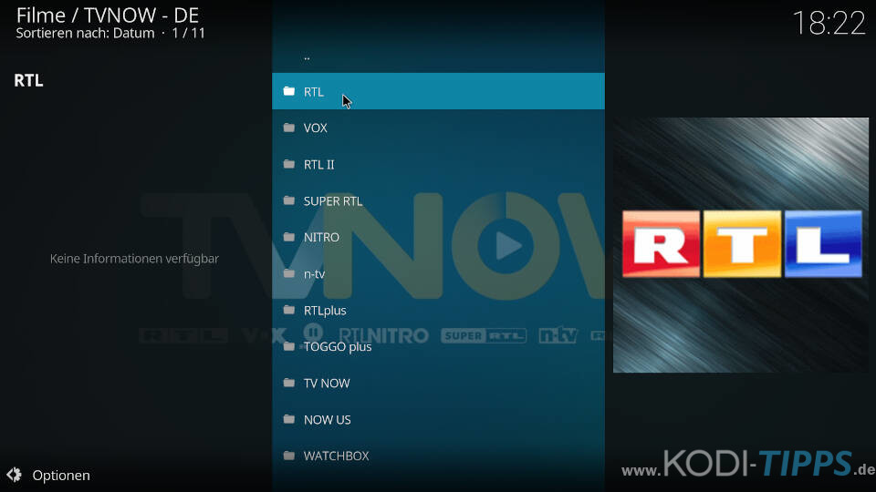 TV NOW Kodi Addon installieren - Schritt 8