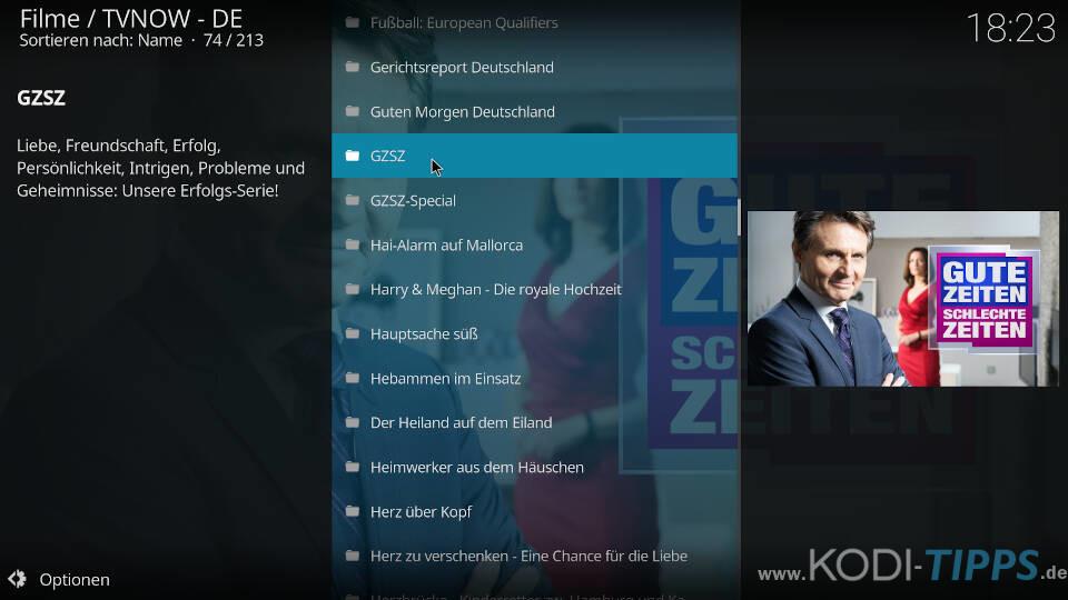TV NOW Kodi Addon installieren - Schritt 9
