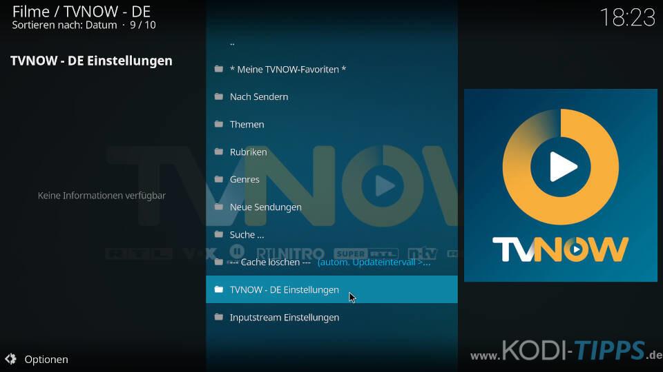 TV NOW Premium Account eintragen - Schritt 1