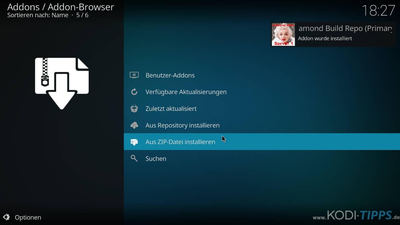 Beta Quadrant Kodi Addon installieren - Schritt 4