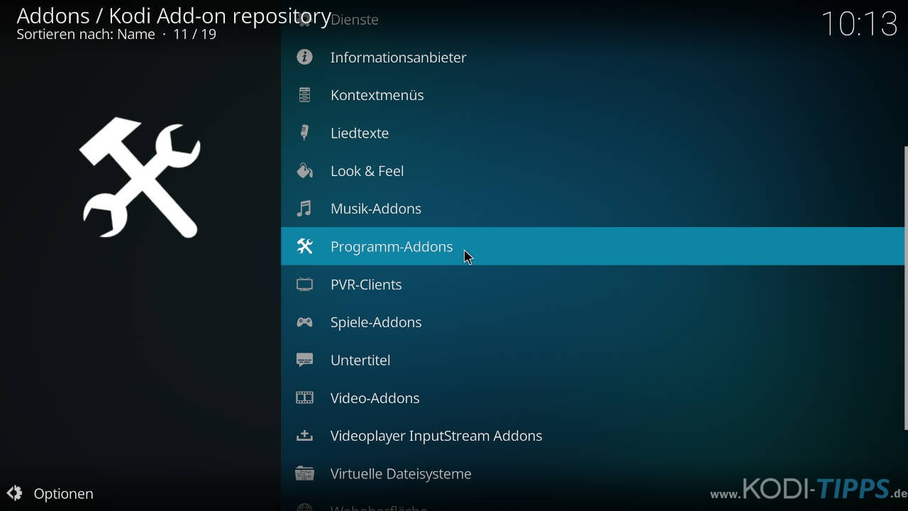 Kodi Backup Addon installieren - Schritt 1