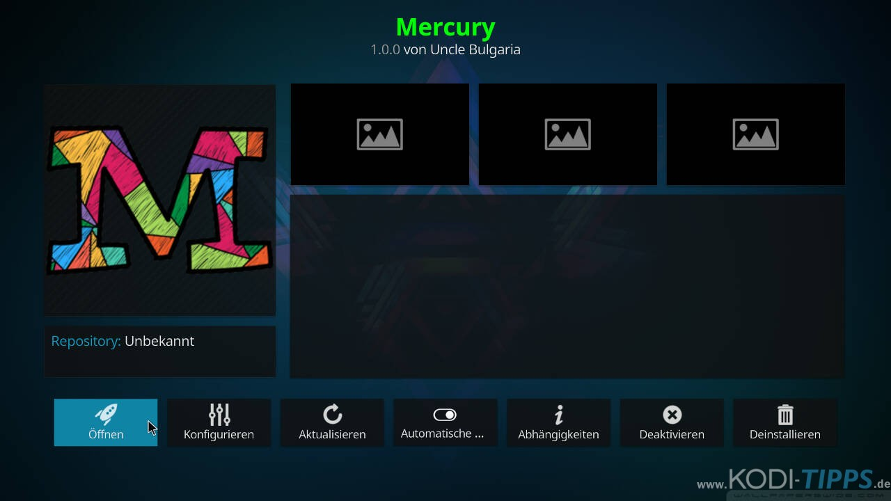 Mercury Kodi Addon installieren - Schritt 11