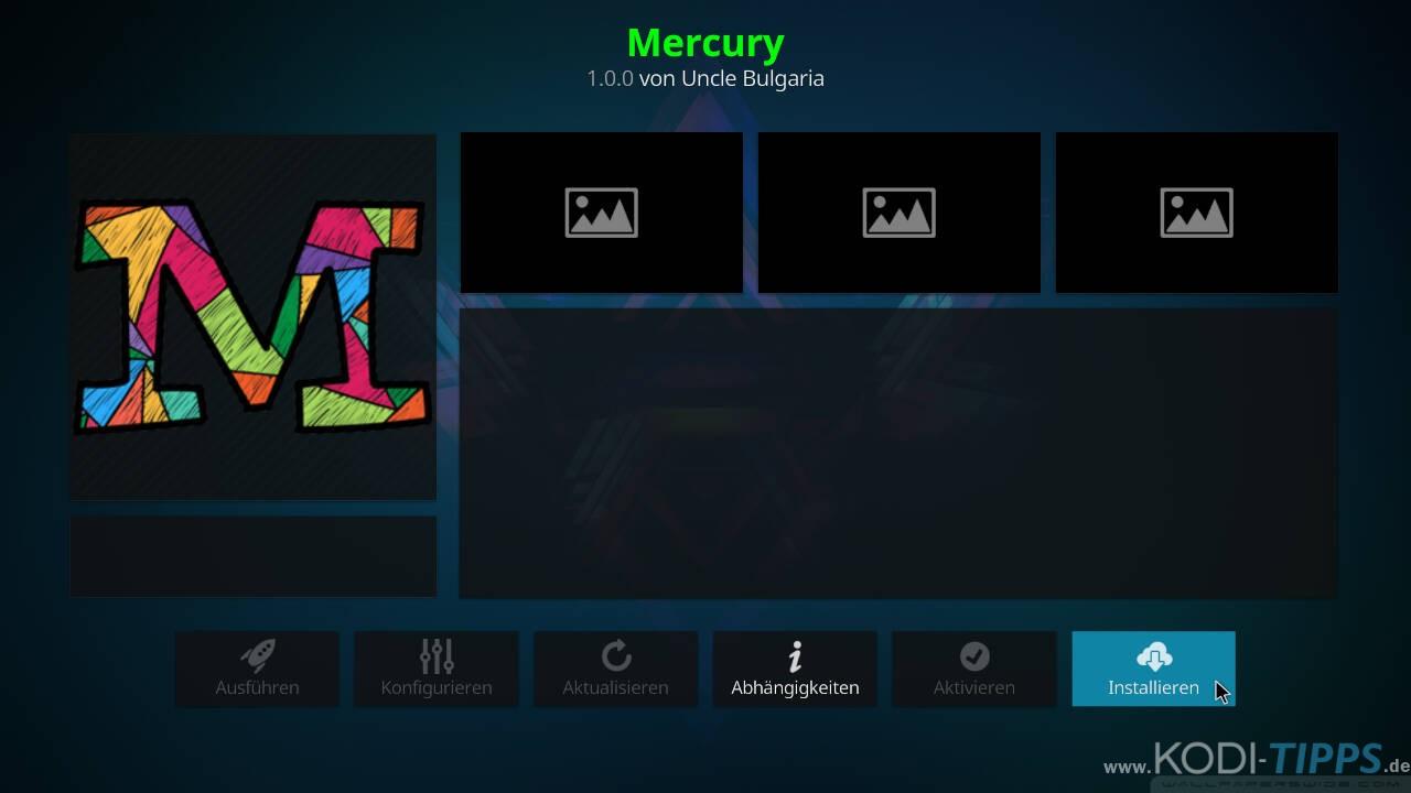 Mercury Kodi Addon installieren - Schritt 8
