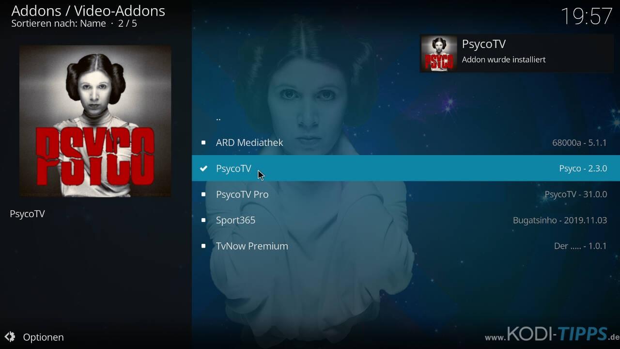 Psyco TV Kodi Addon installieren - Schritt 11