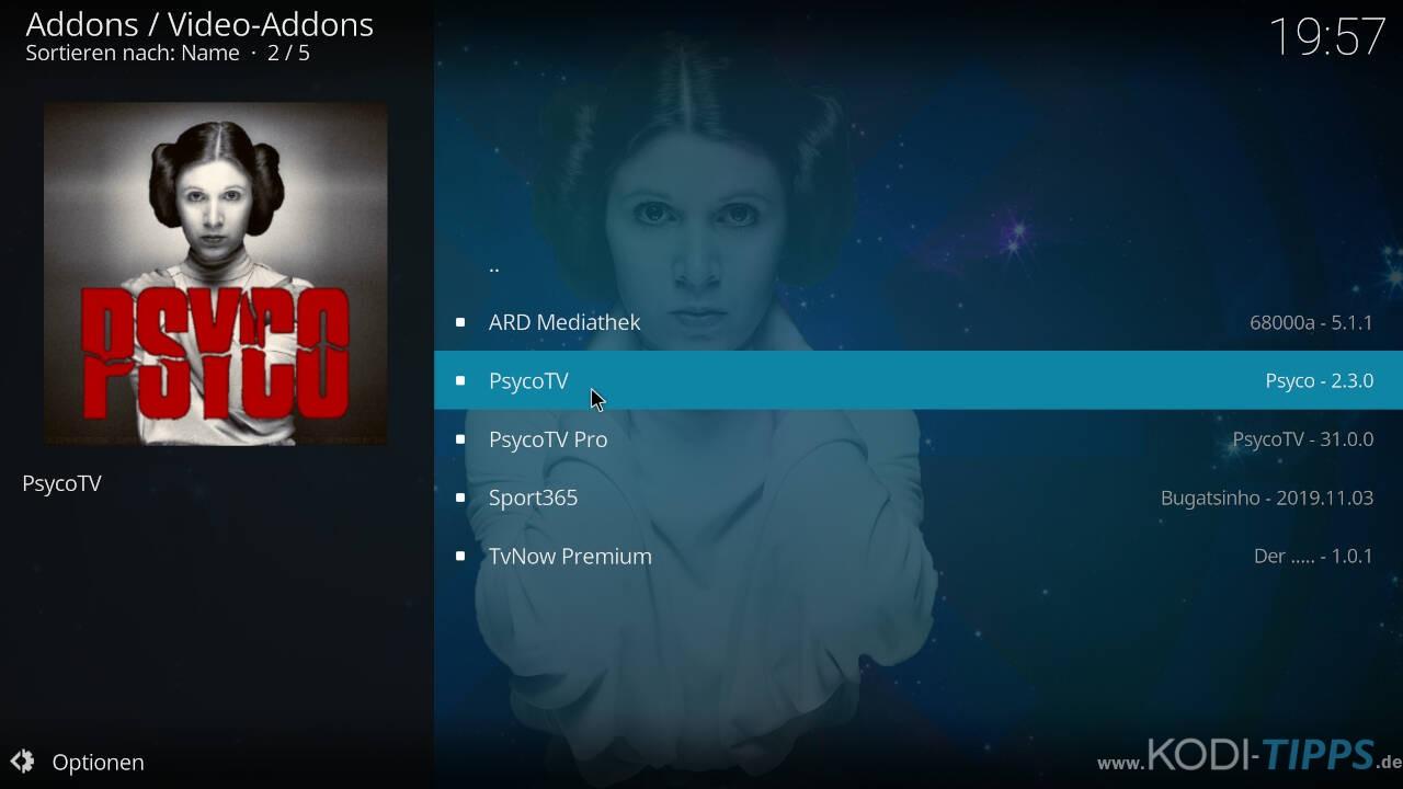 Psyco TV Kodi Addon installieren - Schritt 8