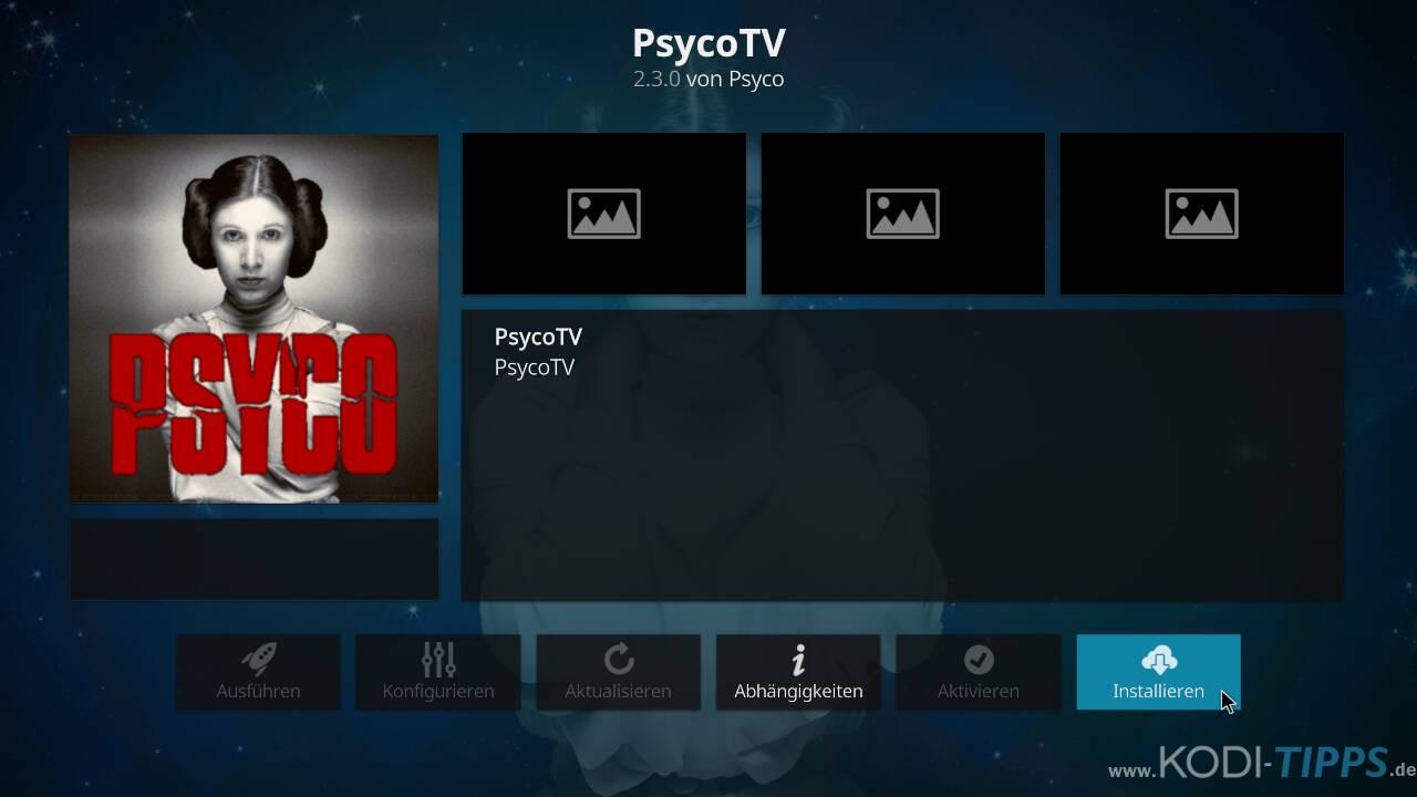 Psyco TV Kodi Addon installieren - Schritt 9