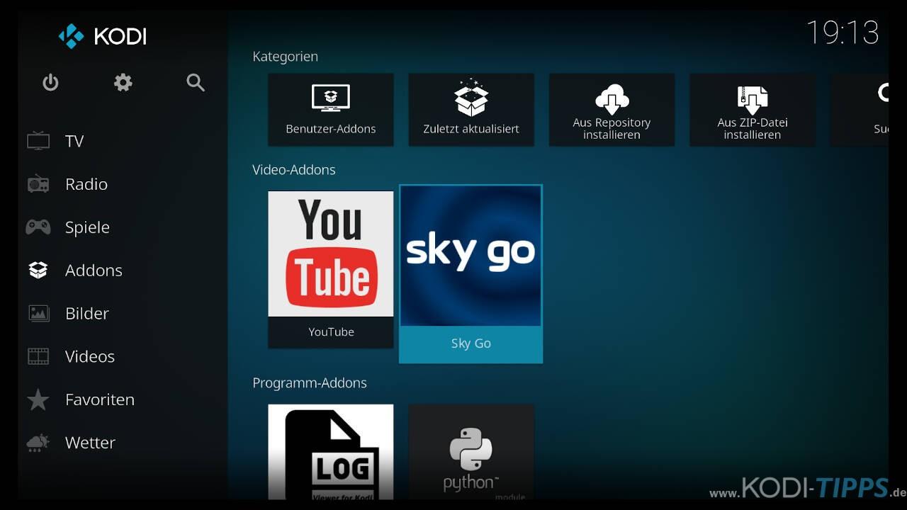Streams starten unter Fire TV oder Android nicht - DRM Widevine erzwingen - Schritt 1