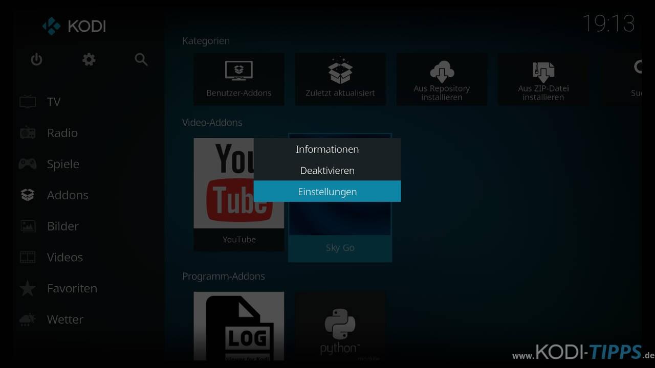 Streams starten unter Fire TV oder Android nicht - DRM Widevine erzwingen - Schritt 2