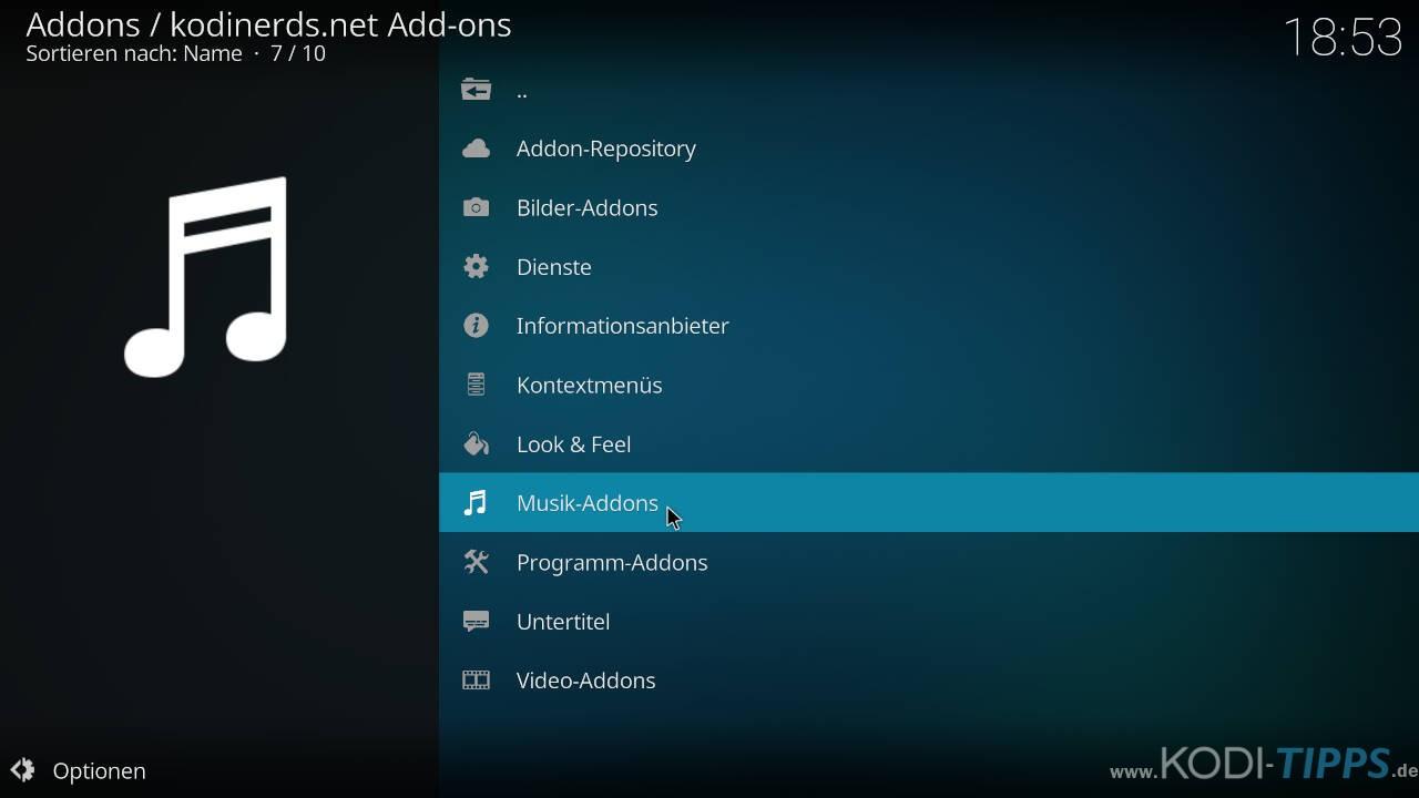 1LIVE Kodi Addon installieren - Schritt 1