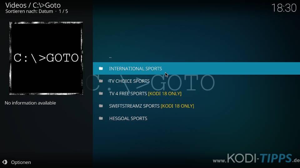 GOTO Kodi Addon installieren (C:\>Goto) - Schritt 14