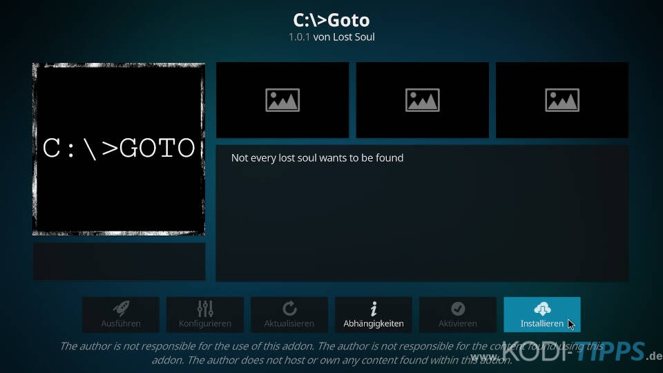 GOTO Kodi Addon installieren (C:\>Goto) - Schritt 8