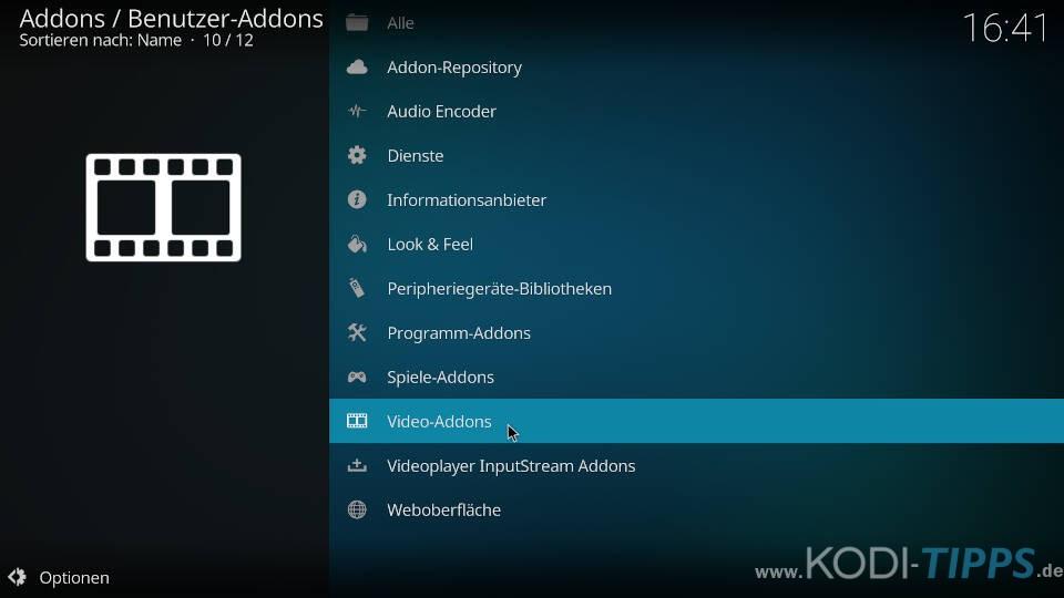 Kodi Addons deinstallieren - Deinstallation über den Addon-Browser - Schritt 4