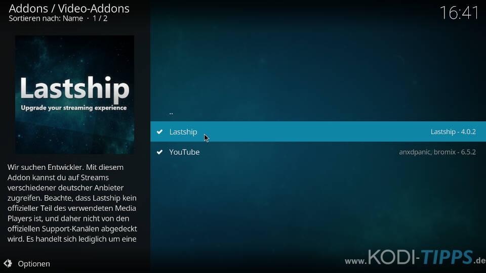 Kodi Addons deinstallieren - Deinstallation über den Addon-Browser - Schritt 5