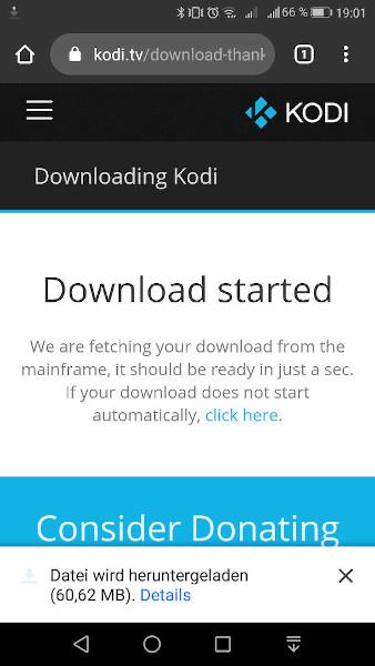 Kodi manuell per APK-Datei installieren - Schritt 3