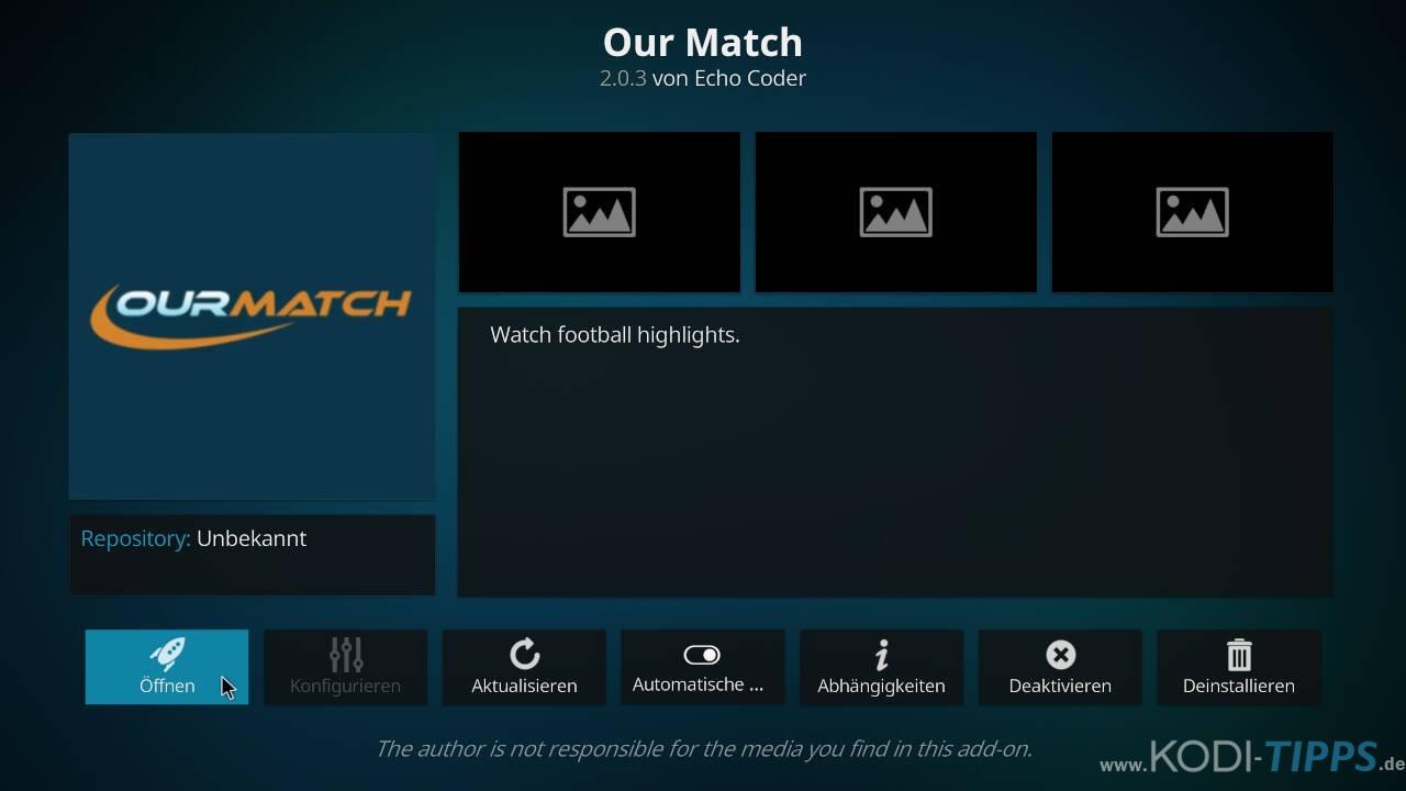 Our Match Kodi Addon installieren - Schritt 11