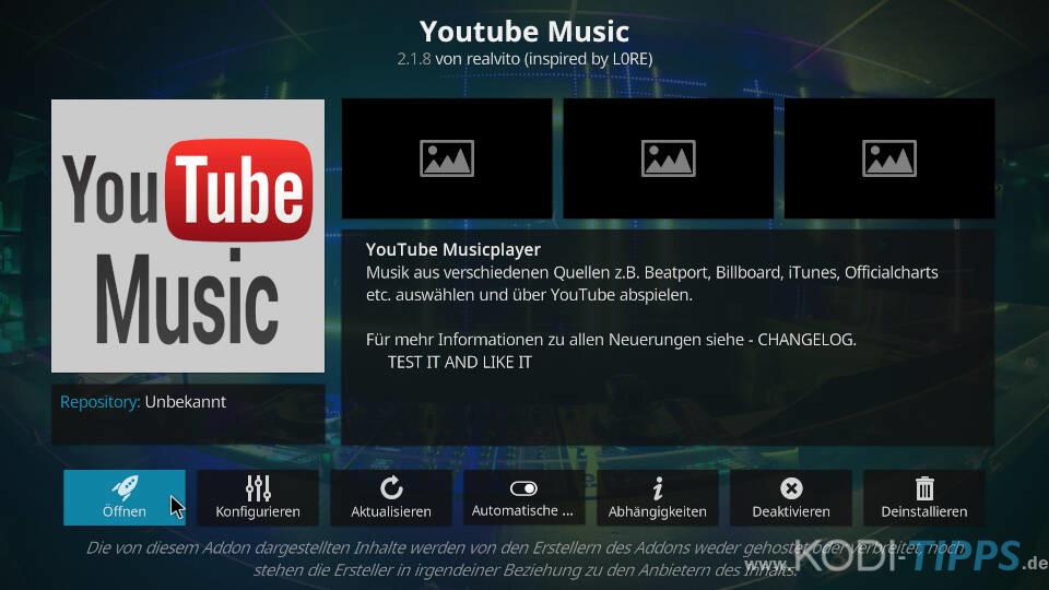 YouTube Music Kodi Addon installieren - Schritt 6