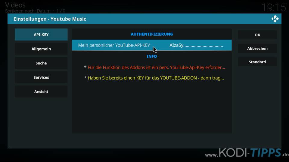 YouTube Music Kodi Addon installieren - Schritt 7