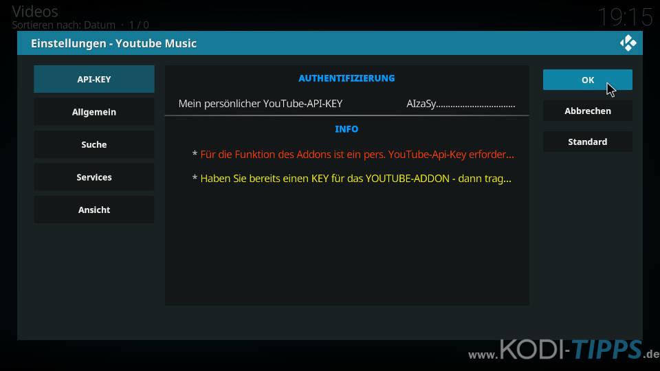 YouTube Music Kodi Addon installieren - Schritt 8