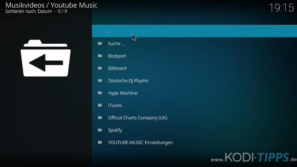 YouTube Music Kodi Addon installieren - Schritt 9