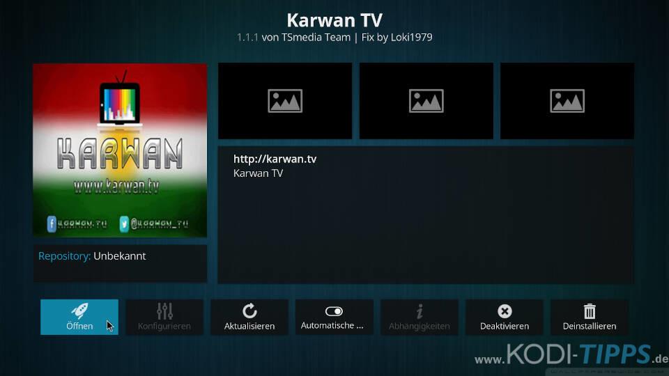 Karwan TV Kodi Addon installieren - Schritt 5