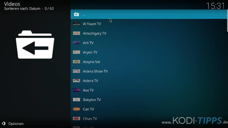 Karwan TV Kodi Addon installieren - Schritt 7