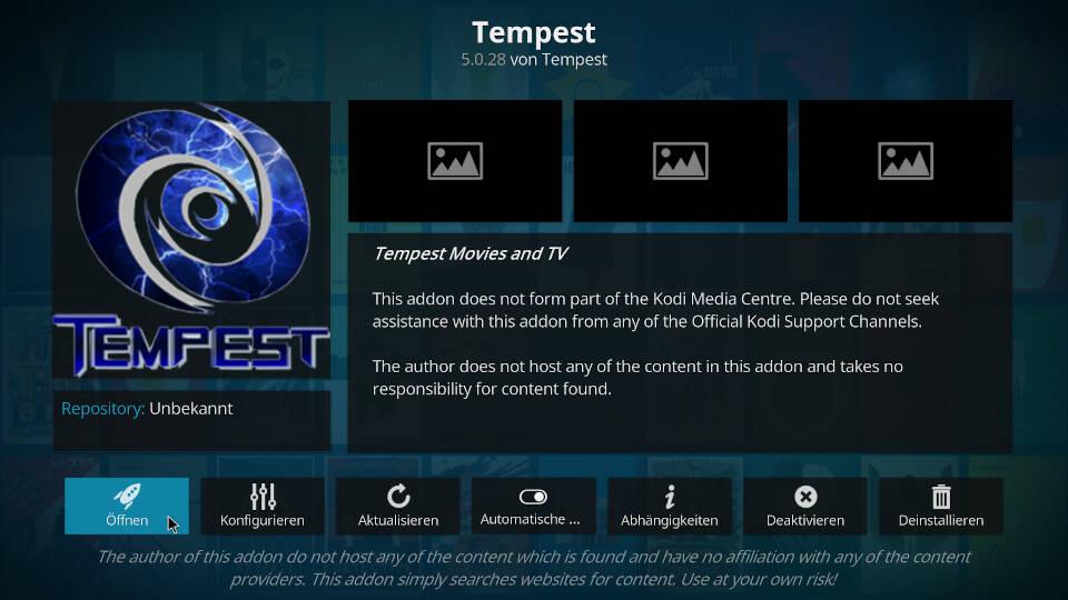 Tempest Kodi Addon installieren - Schritt 11