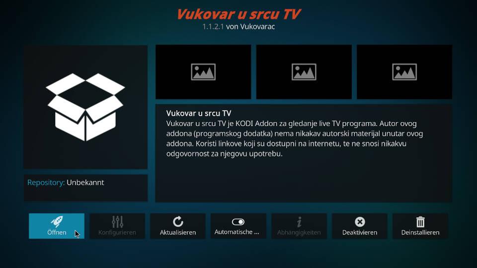 Vukovar U Srcu Kodi Addon installieren - Schritt 11