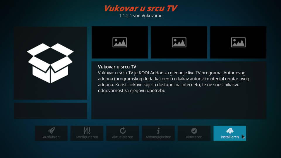 Vukovar U Srcu Kodi Addon installieren - Schritt 9
