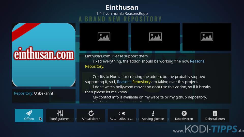 Einthusan Kodi Addon installieren - Schritt 11