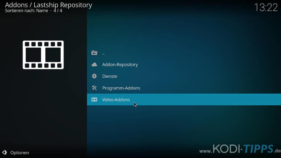 Lastship mit dem Kodzi Kodi Addon installieren - Schritt 6