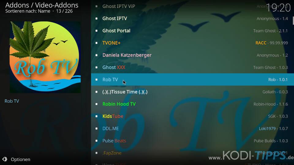 Rob TV Kodi Addon installieren - Schritt 2