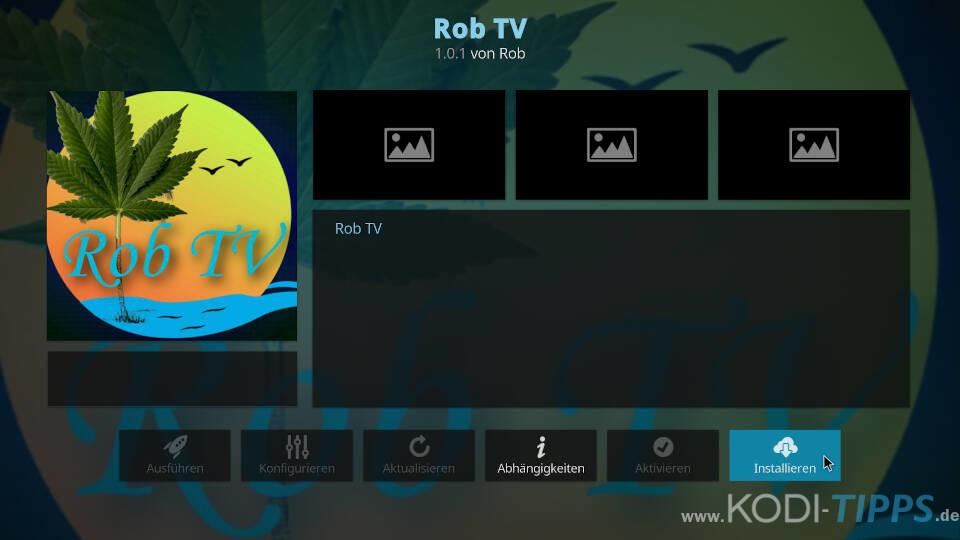 Rob TV Kodi Addon installieren - Schritt 3