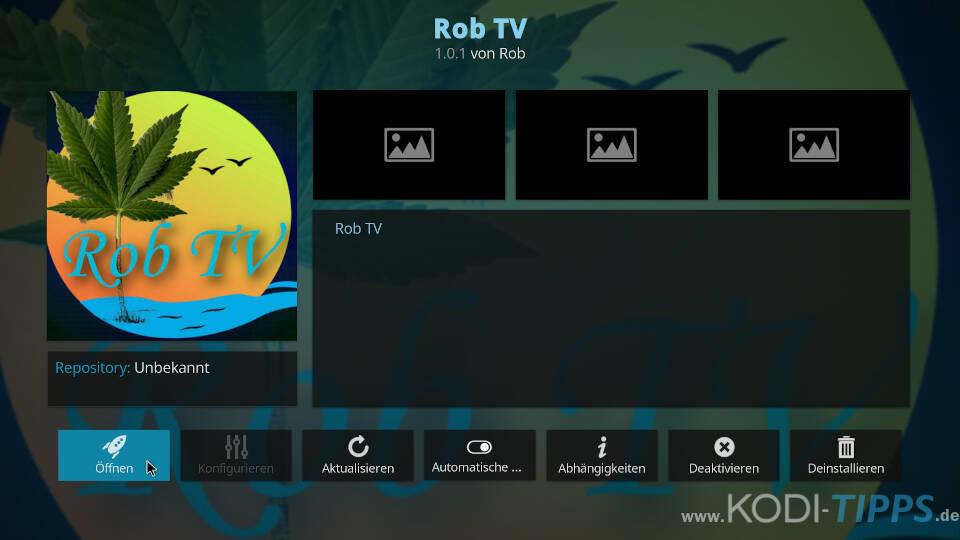 Rob TV Kodi Addon installieren - Schritt 7
