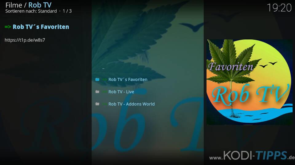 Rob TV Kodi Addon installieren - Schritt 8