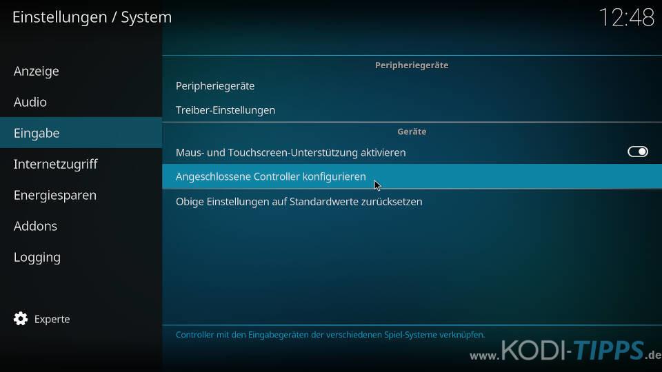 Controller-Profile herunterladen und konfigurieren - Schritt 9