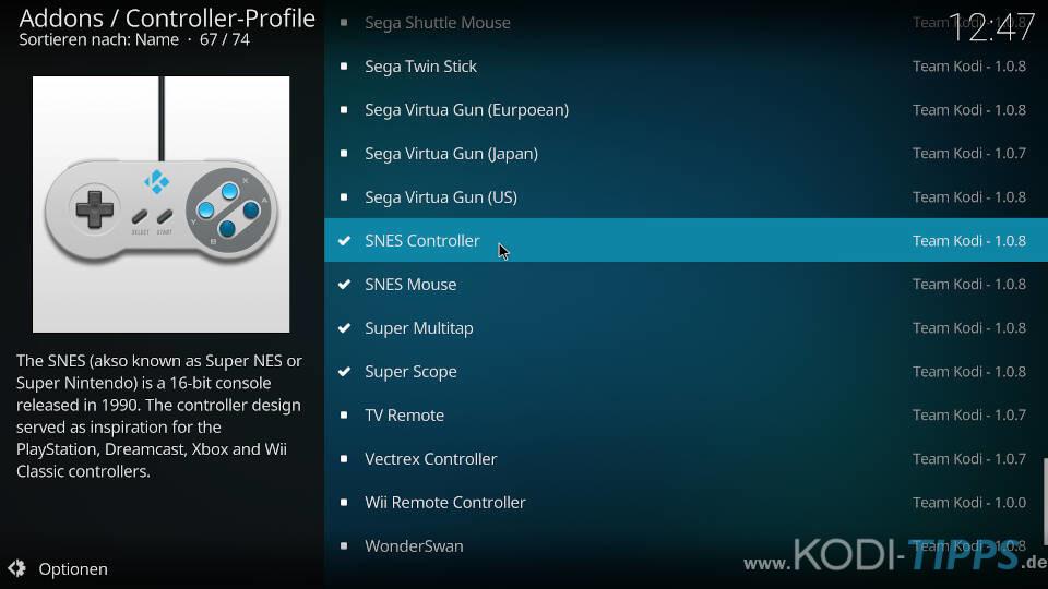 Controller-Profile herunterladen und konfigurieren - Schritt 3