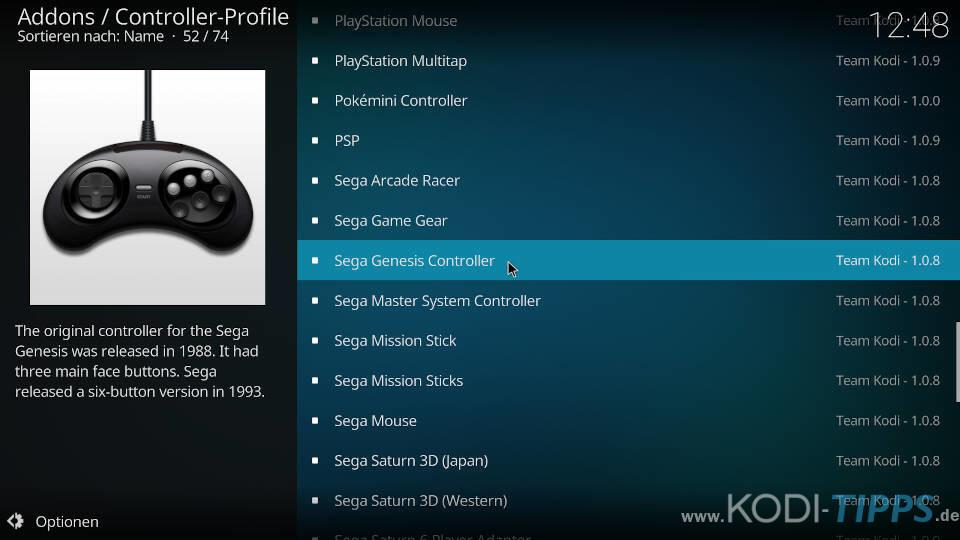 Controller-Profile herunterladen und konfigurieren - Schritt 4