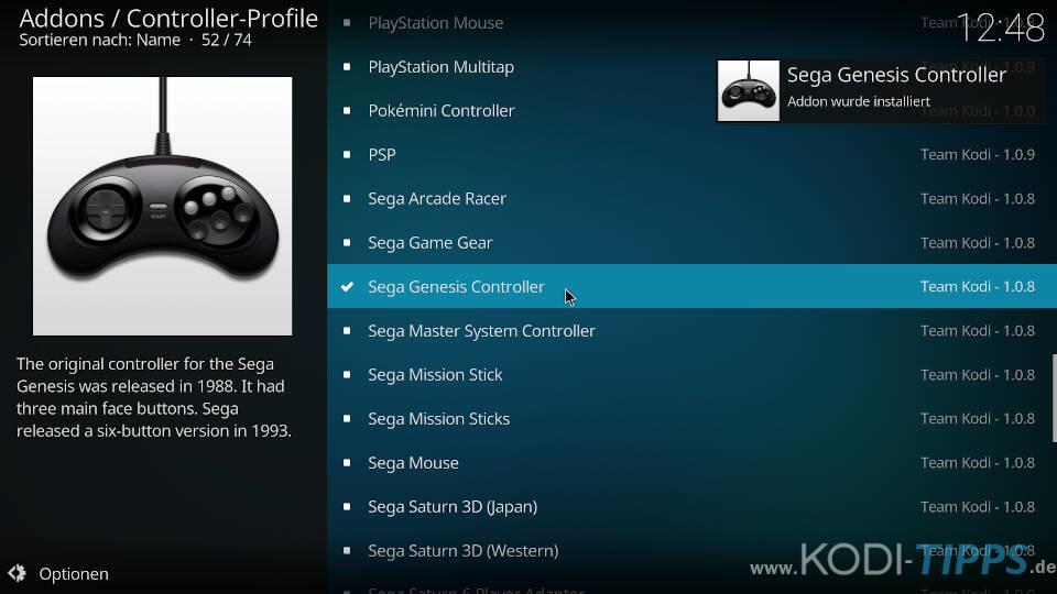 Controller-Profile herunterladen und konfigurieren - Schritt 6