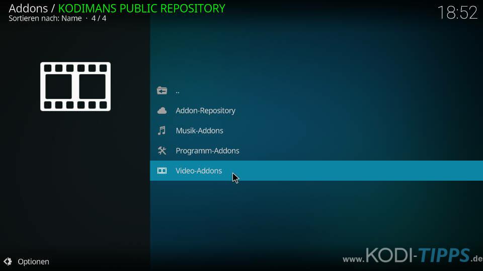 Kodiman Repository installieren - Schritt 7