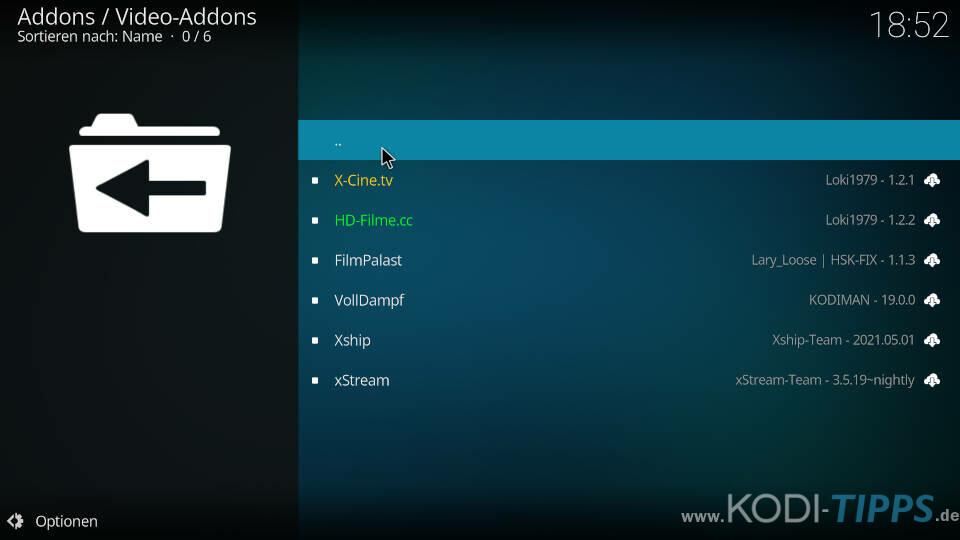 Kodiman Repository installieren - Schritt 8