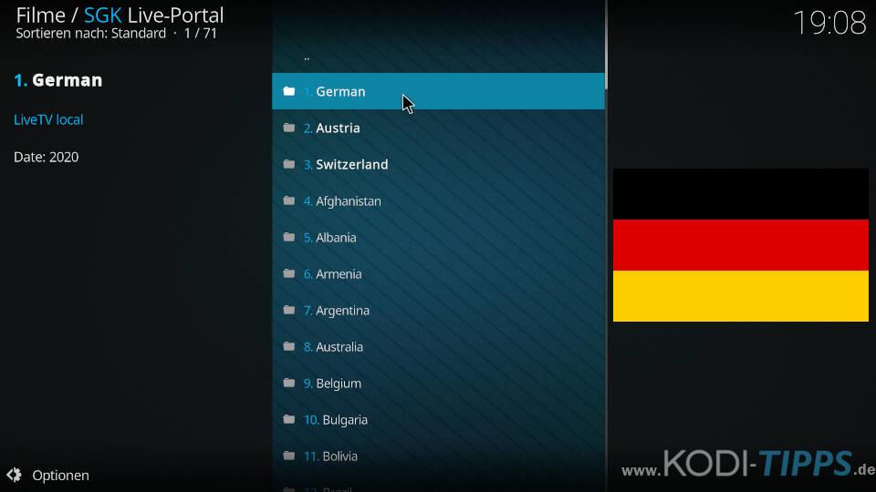 SGK Live Portal Kodi Addon installieren - Schritt 13