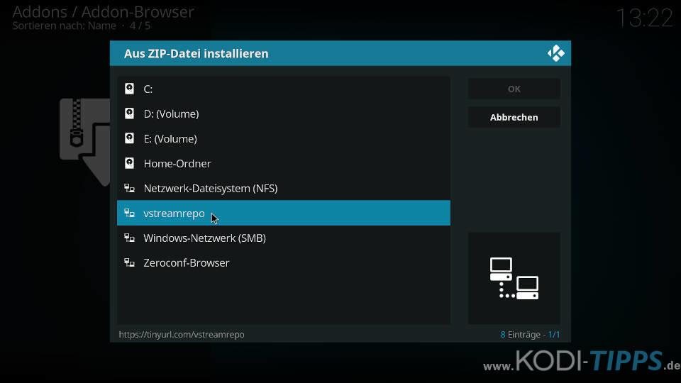vStream Kodi Addon installieren - Schritt 1