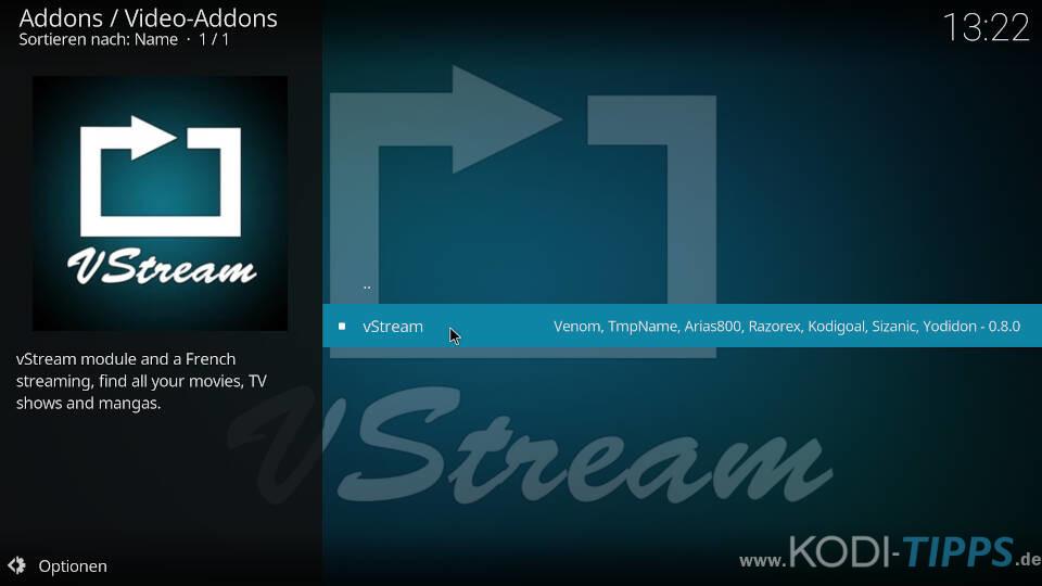 vStream Kodi Addon installieren - Schritt 7
