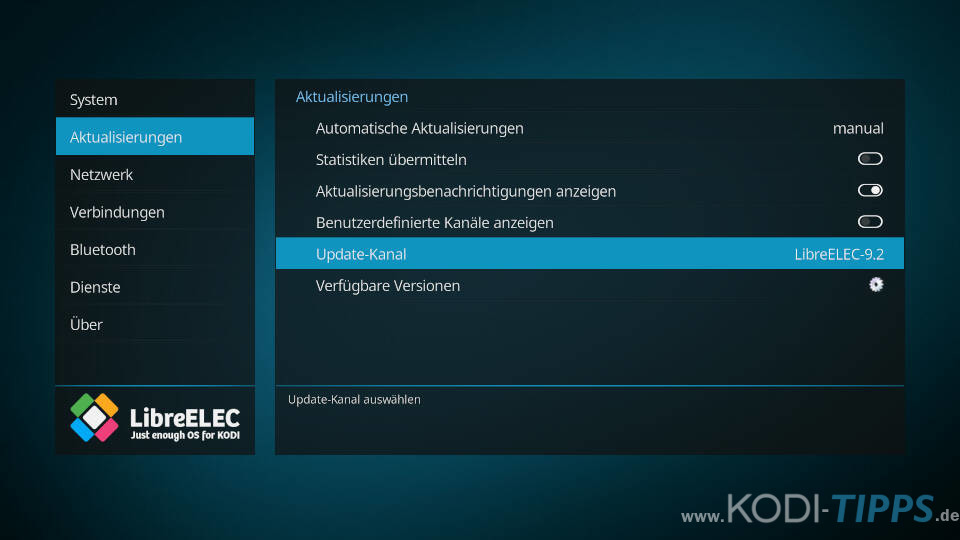 LibreELEC aktualisieren - Schritt 5