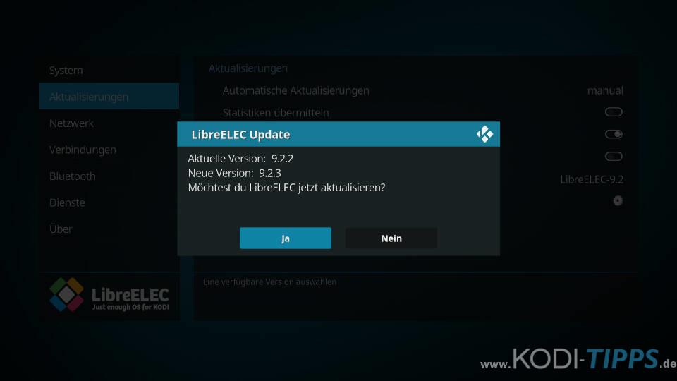 LibreELEC aktualisieren - Schritt 8