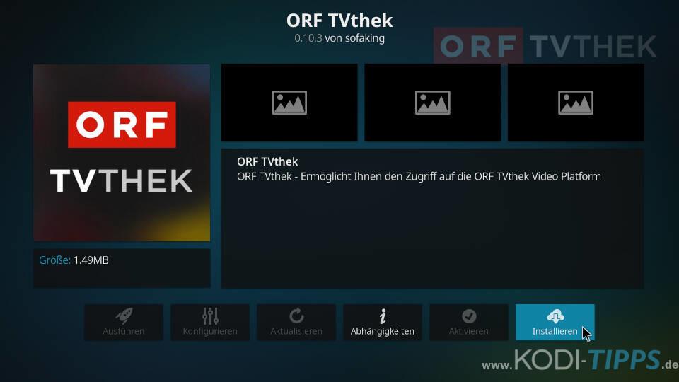 ORF TVthek Kodi Addon installieren - Schritt 3