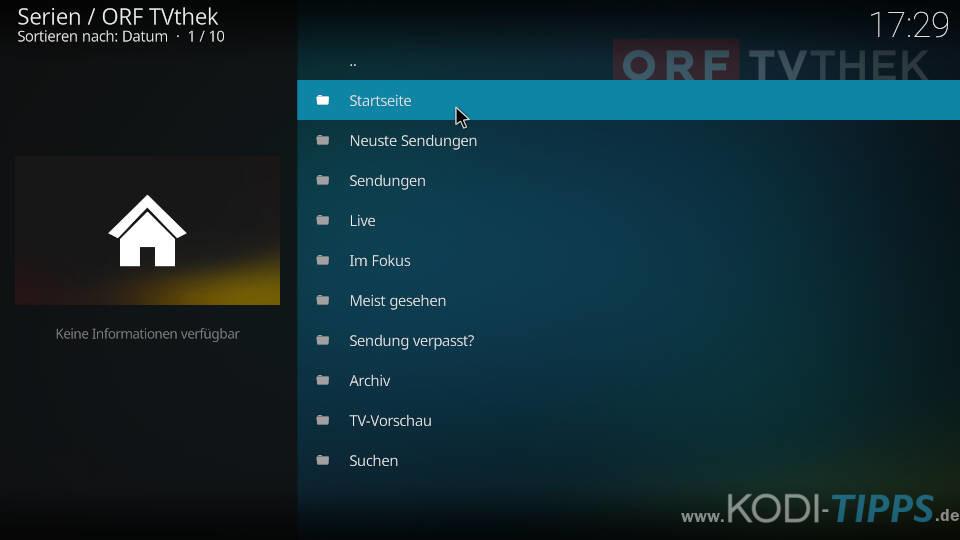ORF TVthek Kodi Addon installieren - Schritt 7