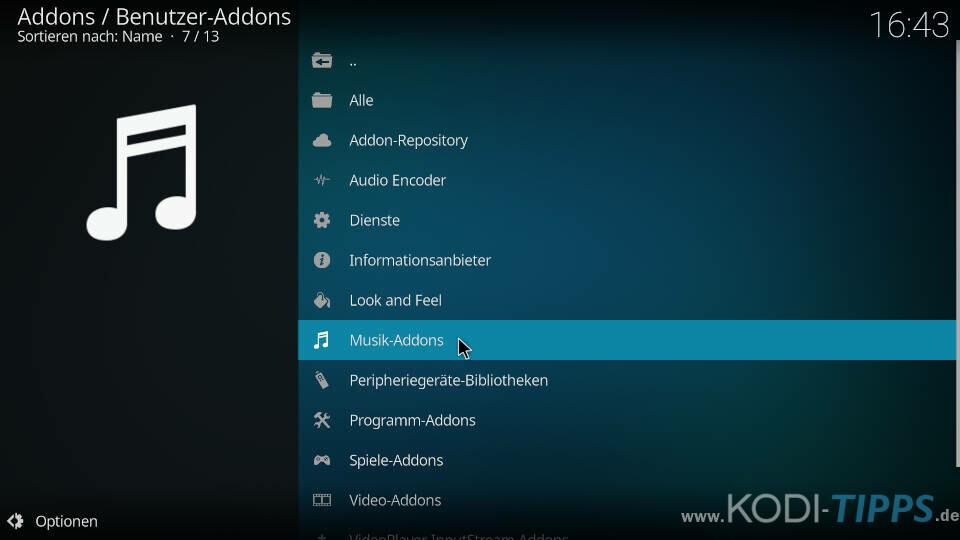 Spotify Kodi Addon installieren - Schritt 4