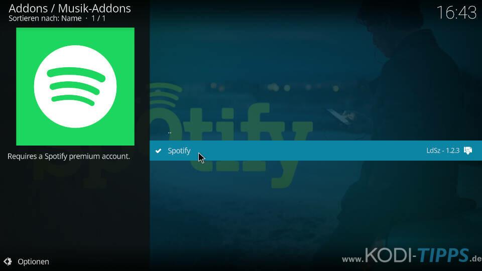 Spotify Kodi Addon installieren - Schritt 5
